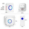 Wireless Door Bell Caregiver Pager Plug-in Receiver Patient Call Button Help System Nurse Alert for Elderly Hospice Home Personal Attention