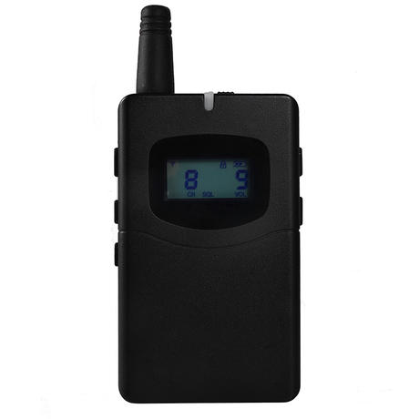 60 hours working time wireless radio tour guide system receiver 70R