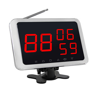 Wireless calling system digital number display receiver with 3 called number in 2 digits
