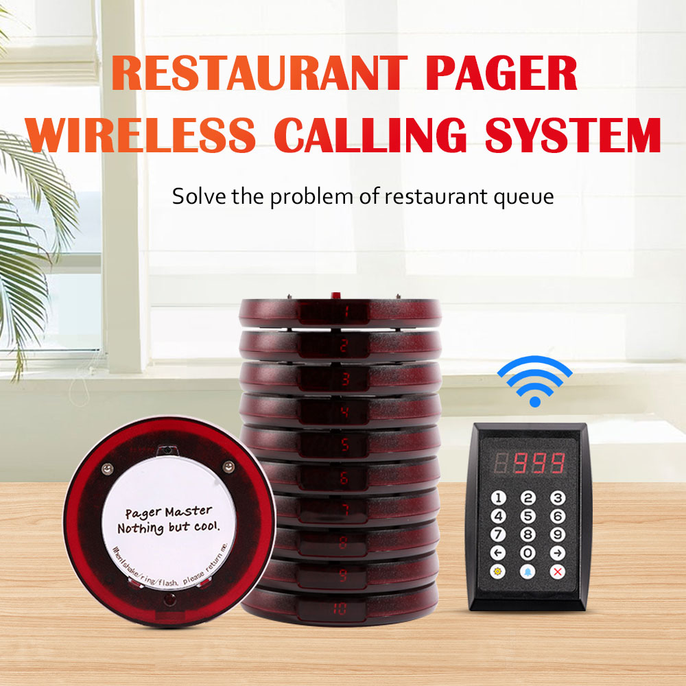 Logo printing coaster restaurant pager wireless pager system