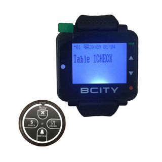 Waterproof watch beep wrist watch pager system wristband pager watch