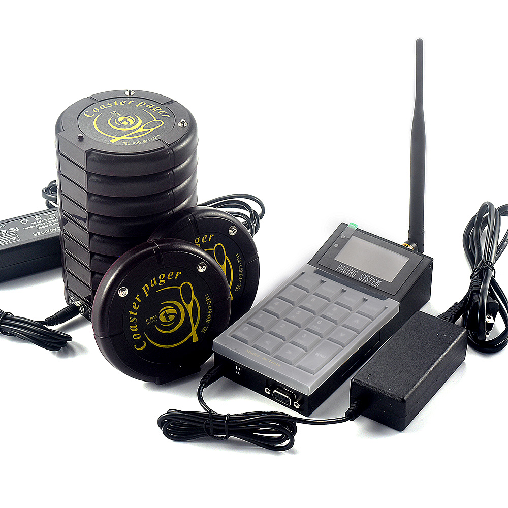Wireless calling system coaster pager waiter call system restaurant pager waiter paging system
